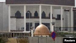 کابل میں بھارت کی جانب سے تعمیر کردہ پارلیمان کی نئی عمارت (فائل)