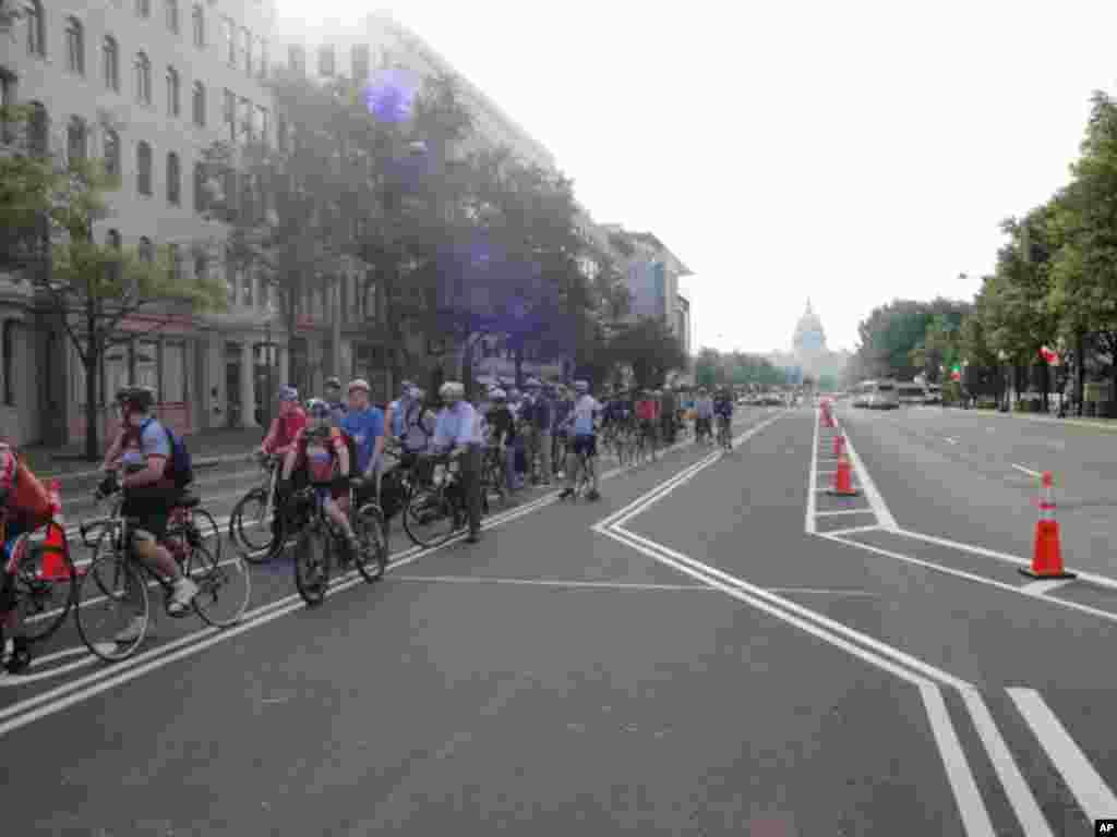 Вашингтон – на работа со велосипед