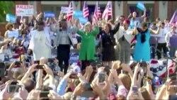 大选前夕川普希拉里支持者互相较劲