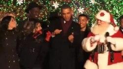 Обама зажег главную елку Америки