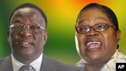 VaEmmerson Mnangagwa naAmai Joyce Mujuru. Collage by Ntungamili Nkomo