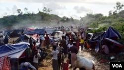 شماری از پناهجویان روهینگیایی در بازار کاکس واقع در بنگله دیش