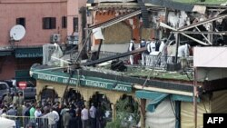 Знищена вибухом кав'ярня в в Марракеші