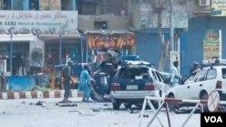 محل حملۀ انتحاری امروز در شهر جلال آباد