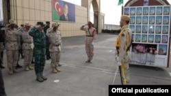 Azərbaycanın Dövlət Sərhəd Xidmətinin rəisi Elçin Quliyev Azərbaycan-İran sərhədində