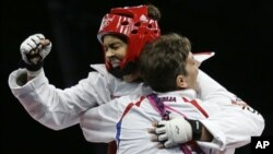 Milica Mandić proslavlja pobedu u finalu olimpijskih igara