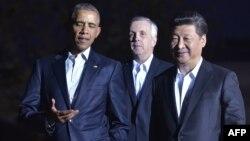 Барак Обама и Си Цзиньпин продолжают переговоры. Вашингтон. 24 сентября 2015 г.