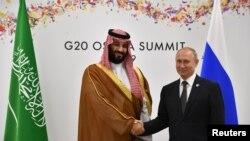 Встреча Путина и бин Салмана на саммите G20 в Осаке, Япония, 29 июня 2019 года