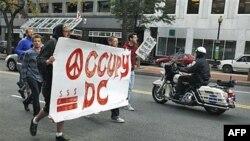"""მოძრაობა """"დაიკავე ვაშინგტონი"""" აქციებს განაგრძობს"""