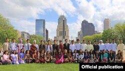 အေမရိကန္ေရာက္ျမန္မာႏြယ္ဖြား ေက်ာင္းသားေက်ာင္းသူမ်ား။ ( သတင္းဓာတ္ပံု- Credit to Burmese American Community Institute Inc)