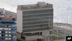 쿠바 아바나의 미국 이익대표부 건물. (자료사진)