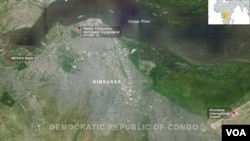 Sites under armed attack in Kinshasa, DRC