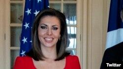 Morgan Ortagus, la nouvelle porte-parole du Département d'Etat américain.