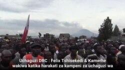 Tshisekedi akifanya kampeni DRC