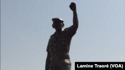 La statue du capitaine Sankara, Ougadougou, le 3 mars 2019. (VOA/ Lamine Traoré)