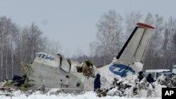 2일 추락한 러시아 유테이르 항공사의 여객기.