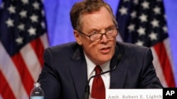 """美國貿易代表萊特希澤8月16日星期三啟動了修改""""北美自由貿易協定""""的談判。"""