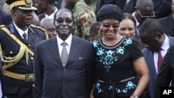 President Robert Mugabe and his wife, Grace, are still on the EU sanctions list