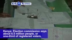 VOA60 Africa - In Kenya, a Third of Voters Went to Polls in Second Presidential Election