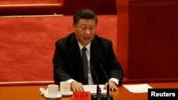 시진핑 중국 국가주석이 지난 23일 베이징에서 열린 한국전 참전 70주년 행사에서 연설하고 있다.