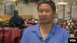 Khun Hong, 55 years old, is a Cambodian American citizen who has the rights to vote in Lowell, Massachusetts. (VOA Khmer