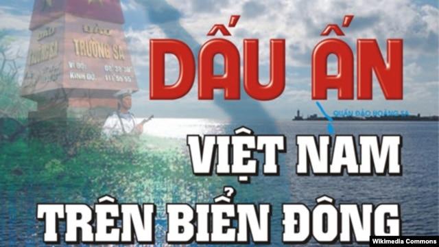 Bìa cuốn sách 'Dấu Ấn Việt Nam Trên Biển Ðông'