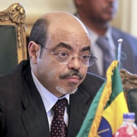 Ethiopia's Prime Minister Meles Zenawi (File)