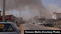 Vue sur la ville de Galkayo, juste après l'attentat-suicide, Somalie, le 21 août 2016. (Horseec Media)