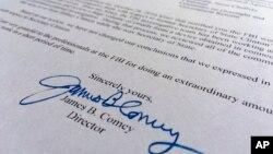 Письмо директора ФБР Джеймса Коми в Конгресс