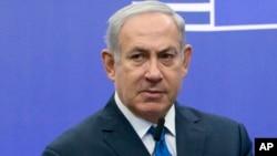 Le Premier ministre israélien Benjamin Netanyahu, Bruxelles, 11 decembre 2017