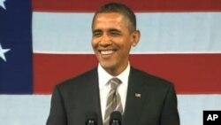 奥巴马总统在纽约的筹款集会上
