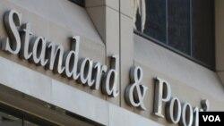Kantor badan penilai kelayakan kredit 'Standard & Poor's' di kota New York.
