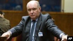 Руководитель российской делегации, замглавы российского МИДа Григорий Карасин.