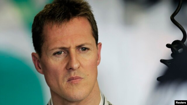 FILE - Mercedes Formula One driver Michael Schumacher of Germany is seen during the first practice session of the Australian F1 Grand Prix at the Albert Park circuit in Melbourne, Australia, March 25, 2011.