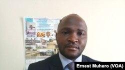 Le directeur provincial de l'Office national du café, François Nzanzu, Bukavu, Sud-Kivu, 13 juin 2018. (VOA/Ernest Muhero)