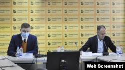 Konferencija za štampu Zorana Vuletića (GDF) i Nebojše Zelenovića (Foto: Zajedno za Srbiju)