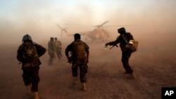 Архивное фото. Афганские военнослужащие на учениях в провинции Гильменд, август 2017 года