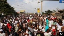 Un meeting pré-électoral à Conakry, Guinée le 8 octobre 20145.