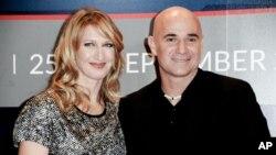«آندره آغاسی» و «استفی گراف» دو تنیسور حرفه ای بودند که با هم ازدواج کردند.