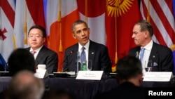 El presidente de EE.UU., Barack Obama, se reunió con distintos representantes sociales así como mandatarios de varios países para garantizar la participación civil en la toma de decisiones de sus gobiernos.
