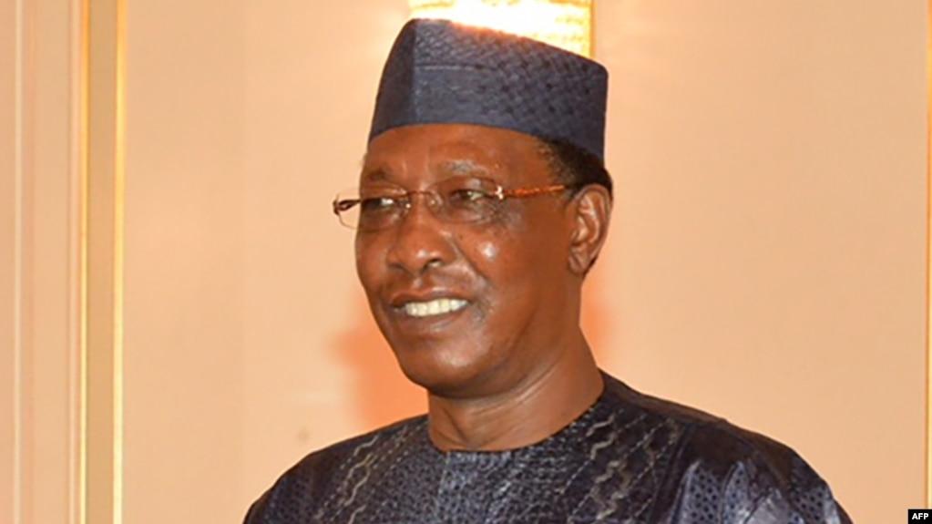 Le président Idriss Déby du Tchadà N'Djamena, Tchad, 12 mars 2018.