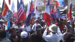 Opposition Demonstrators March on Western Embassies