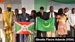 Les chefs de toutes les délégations africaines. (VOA/ Ginette Fleure Adande)
