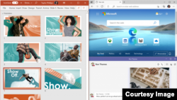 Microsoft announced that its latest OS version, Windows 11, includes tools aimed at making it easier for users to organize apps and documents on different sized desktops. (Image Courtesy: Microsoft)