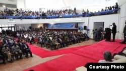 Rais Magufuli akizungumza katika Kongamano la hali ya uchumi na Siasa Tanzania