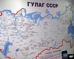 古拉格劳改营分布图显示劳改营遍布苏联各地