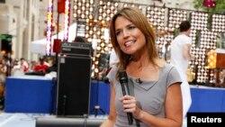 """Savannah Guthrie, co-conductora del popular programa matutino de NBC, """"Today"""" no irá a las Olimpiadas de Rio de Janeiro por temor al Zika."""