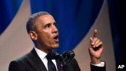 President Obama speaks to Congressional Black Caucus Foundation.
