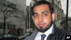 This Thursday, Feb. 16, 2012 photo shows Jawad Rasul near the City College of New York where he is a student. Rasul's name ended up in a New York Police Department report after an undercover officer accompanied him and other Muslim students on a whitewate