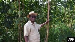 Eugene Kremien, président de l'Association des professionnels du caoutchouc naturel de Côte d'Ivoire et propriétaire de la Compagnie Ivoirienne d'Hevea qui transforme l'usine de caoutchouc naturel de Grand-Lahou, le 31 juillet 2018.